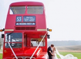 Red Routemaster bus for weddings in Maidstone